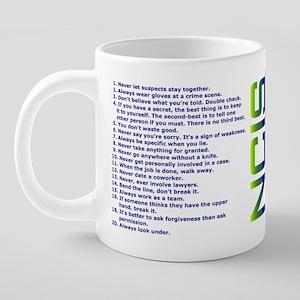 List of Gibbs Rules Blue/Gr 20 oz Ceramic Mega Mug