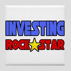 """Investing Rock Star"" Tile Coaster"