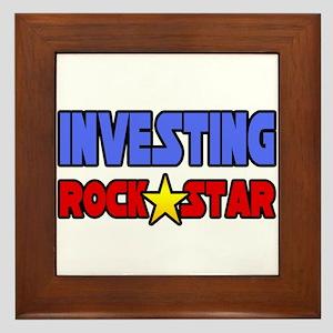 """""""Investing Rock Star"""" Framed Tile"""