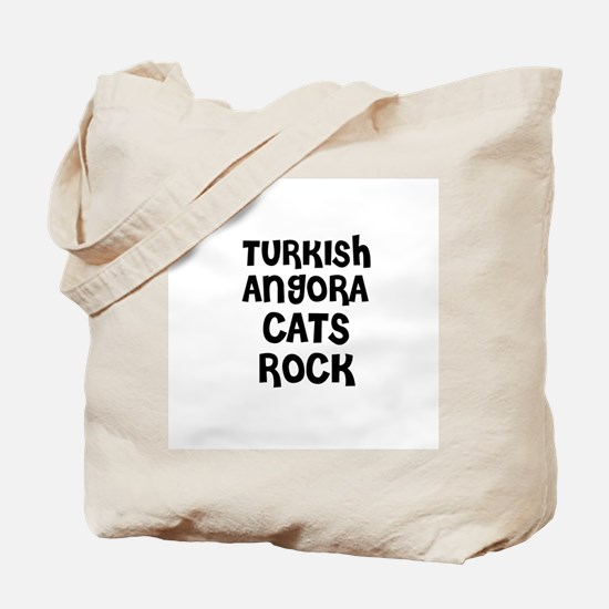 TURKISH ANGORA CATS ROCK Tote Bag
