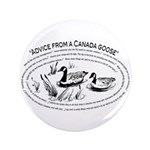 """Advice from a Canada goose 3.5"""" Button (100)"""
