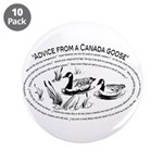 """Advice from a Canada goose 3.5"""" Button (10 pa"""