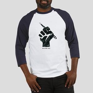 Write On T-Shirt Baseball Jersey