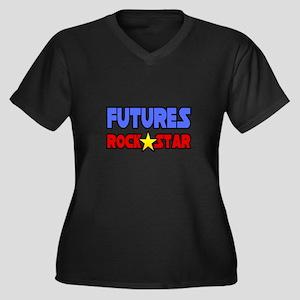 """Futures Rock Star"" Women's Plus Size V-Neck Dark"