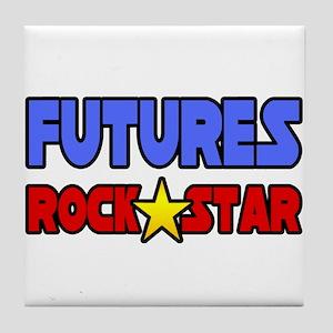"""Futures Rock Star"" Tile Coaster"