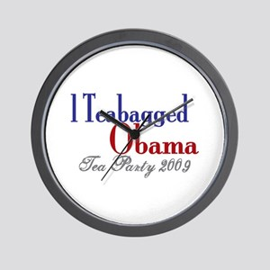 Teabag Obama (Tea Party) Wall Clock