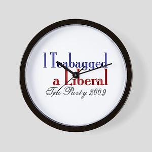 Teabag a Liberal (Tea Party) Wall Clock