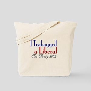 Teabag a Liberal (Tea Party) Tote Bag