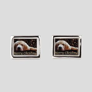 Golden Retriever Puppy Christmas Image Rectangular