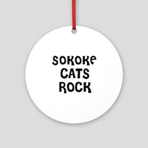 SOKOKE CATS ROCK Ornament (Round)