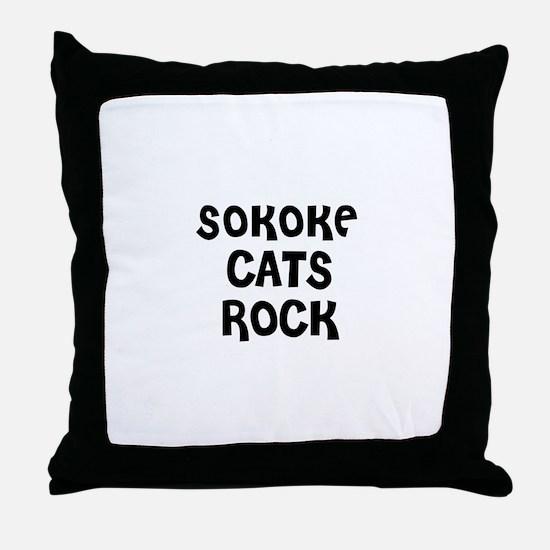 SOKOKE CATS ROCK Throw Pillow