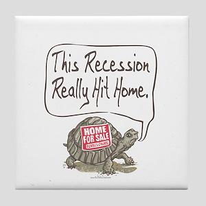 Tortoise Turtle Recession Tile Coaster