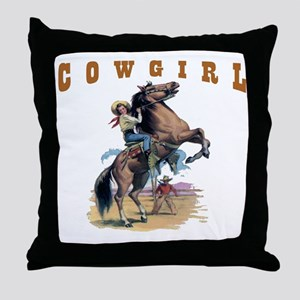 """Cowgirl"" Throw Pillow"