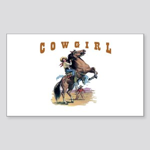 """Cowgirl"" Rectangle Sticker"