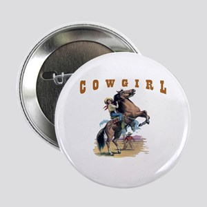 """""""Cowgirl"""" 2.25"""" Button"""