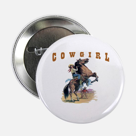 """Cowgirl"" 2.25"" Button"