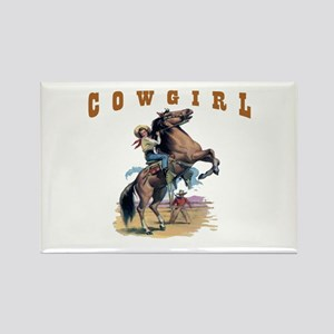 """Cowgirl"" Rectangle Magnet"