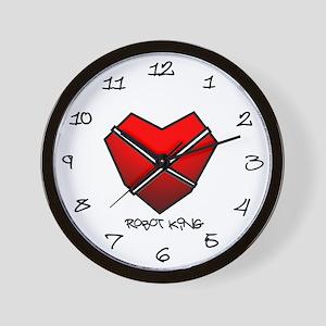 Robot King Heart Wall Clock