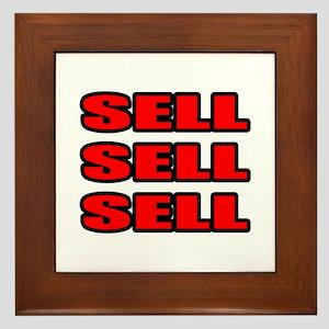 """""""Sell Sell Sell"""" Framed Tile"""