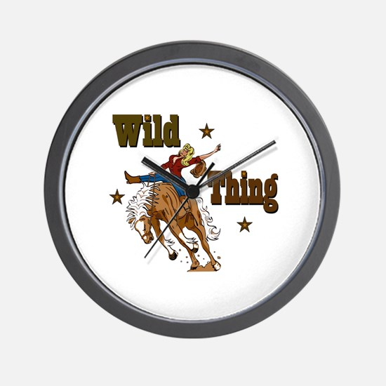 """Wild Thing"" Wall Clock"