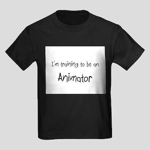 I'm Training To Be An Animator Kids Dark T-Shirt
