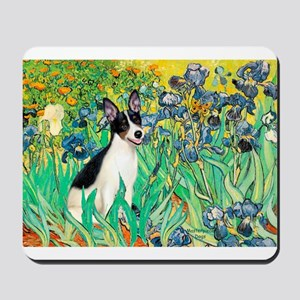 Irises / Rat Terrier Mousepad
