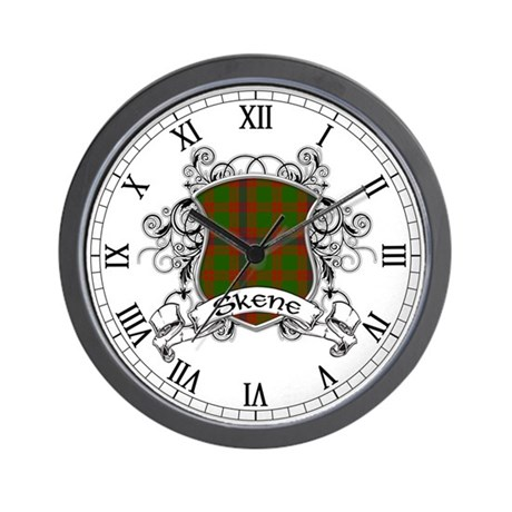 Skene Tartan Shield Wall Clock