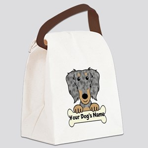 Personalized Dachshund Canvas Lunch Bag