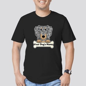 Personalized Dachshund Men's Fitted T-Shirt (dark)