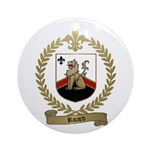 RICARD Family Crest Ornament (Round)