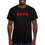 Poppies Men's Fitted T-Shirt (dark)