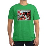 Audrey in Poppies Men's Fitted T-Shirt (dark)