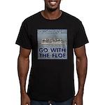 Snow Goose Men's Fitted T-Shirt (dark)