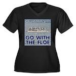 Snow Goose Women's Plus Size V-Neck Dark T-Shirt
