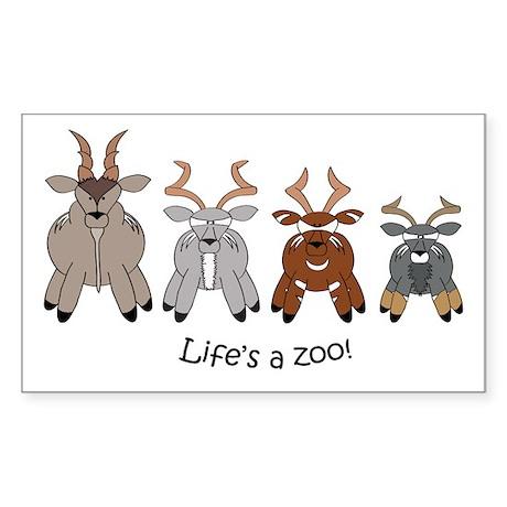 Spiral-horned Antelope Rectangle Sticker