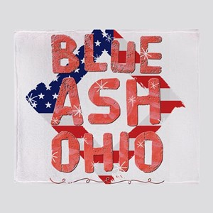 Blue Ash Ohio Throw Blanket