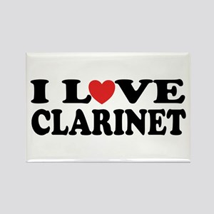 Classic I Love Clarinet Rectangle Magnet