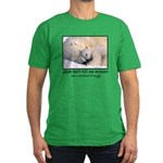 Save the Polar Bears Men's Fitted T-Shirt (dark)