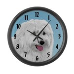 Polish Lowland Sheepdog Large Wall Clock