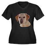 Labrador Ret Women's Plus Size V-Neck Dark T-Shirt