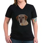 Labrador Retriever Women's V-Neck Dark T-Shirt