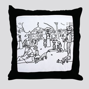 A Sunday Afternoon - Stick Throw Pillow