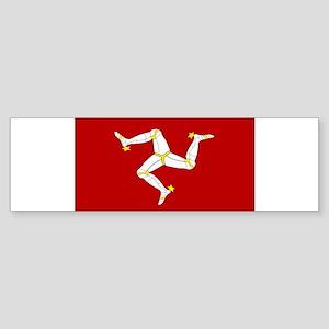 Isle of Man Flag Gear Bumper Sticker