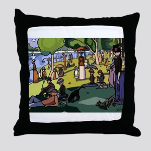 A Sunday Afternoon - S.F. Master. Throw Pillow