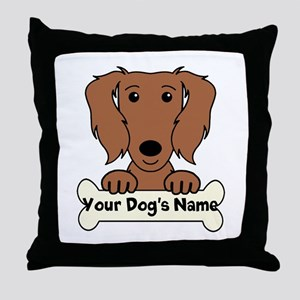 Personalized Dachshund Throw Pillow