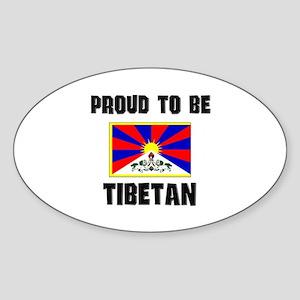Proud To Be TIBETAN Oval Sticker