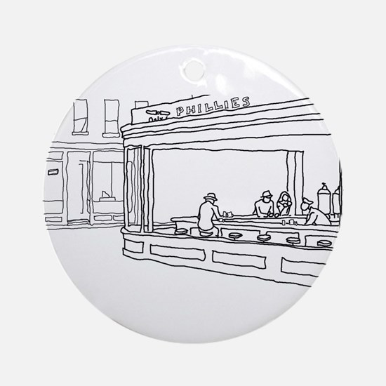Nighthawks - Stick Ornament (Round)