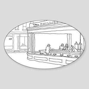 Nighthawks - Stick Oval Sticker