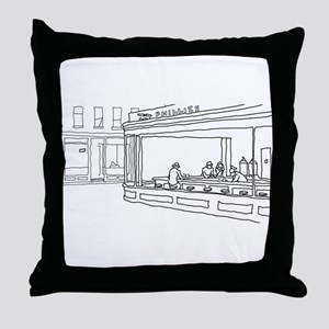 Nighthawks - Stick Throw Pillow
