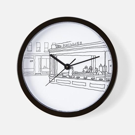 Nighthawks - Stick Wall Clock